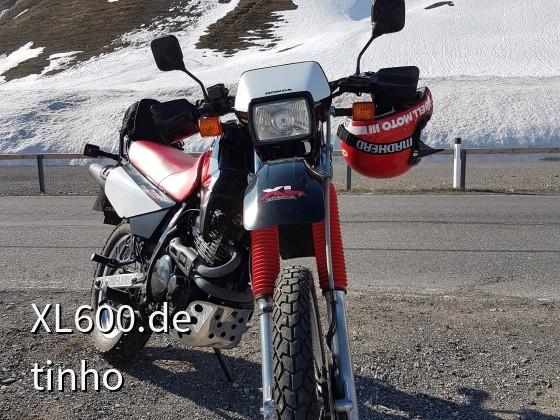 XL 600 RM in den Alpen